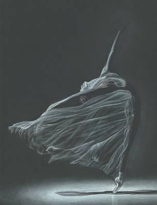 Shadow Dancing Drawing - Ballerina by Emma Foss