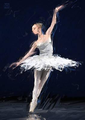 Tutus Digital Art - Ballerina by H James Hoff
