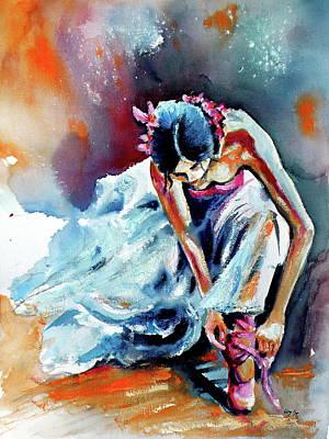 Ballerina Painting - Ballerina by Kovacs Anna Brigitta