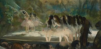 Ballet At The Paris Opera  Art Print by Edgar Degas