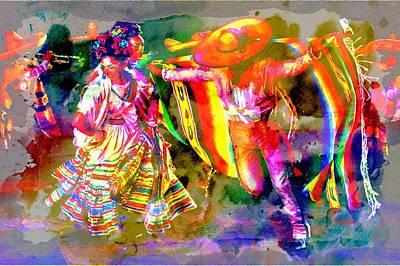 Mexican Dance Digital Art - Ballet Folklorico  by Don Barrett