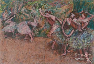 Edgar Degas Wall Art - Pastel - Ballet Scene by Edgar Degas