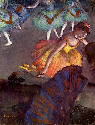 Fan Painting - Ballet, Seen From A Box by Edgar Degas