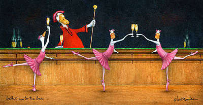 Ballet Up To The Barre... Art Print by Will Bullas