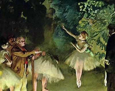 Class Painting - Ballett Rehearsal by Edgar Degas