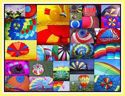 Photograph - Balloon Fantasy Collage  by Allen Beatty