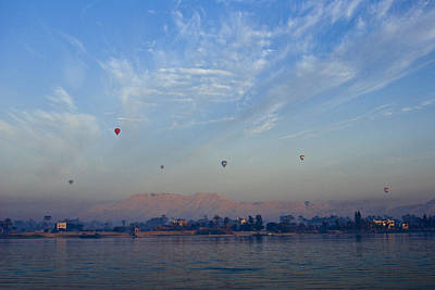 Photograph - Ballooning Over The Nile by Michele Burgess