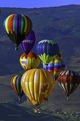 Photograph - Balloons Over Reno by Dorothy Cunningham