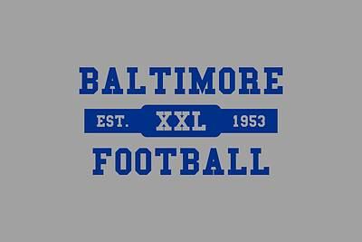 Baltimore Colts Retro Shirt Art Print
