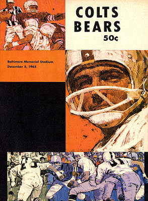 Baltimore Colts Vintage Program Art Print