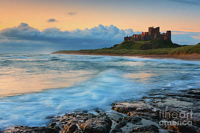 Historical Places Photograph - Bamburgh Castle by Henk Meijer Photography