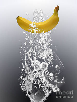 Banana Splash Art Print by Marvin Blaine