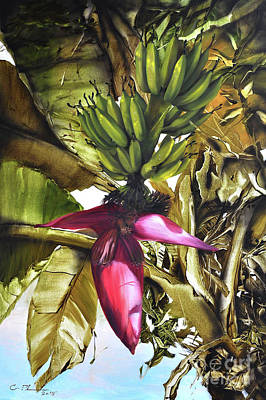Painting - Banana Tree by Chonkhet Phanwichien