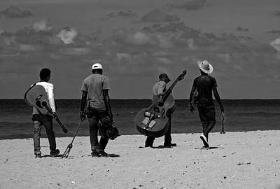 Bongo Photograph - Band Of The Beach - Cuba by Mountain Dreams