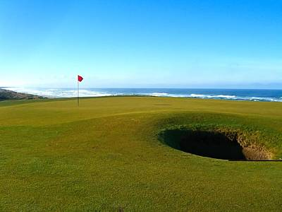 Golf Photograph - Bandon Dunes 16th Green by Scott Carda