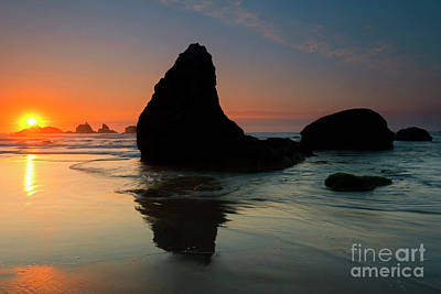 Photograph - Bandon Sundown by Mike Dawson