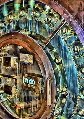 Bank Vault Door Art Print
