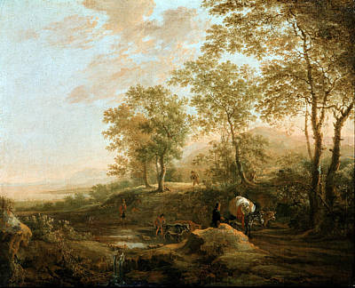Painting - Banks Of A Brook by Jan Both