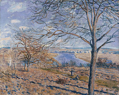 Working Painting - Banks Of The Loing - Autumn Effect by Alfred Sisley