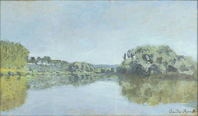 River Painting - Banks Of The Seine At Argenteuil by Claude Monet