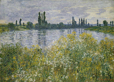 Painting - Banks Of The Seine by Claude Monet