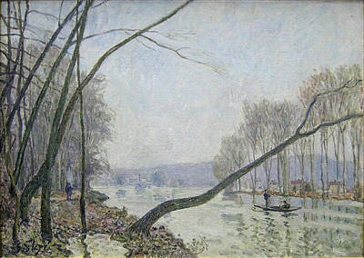 Autumn Painting - Banks Of The Seine In Autumn by MotionAge Designs