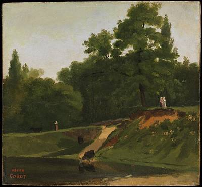Banks Of The Stream Near The Corot Property Ville D'avray Original by Camille Corot