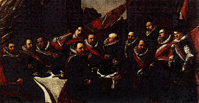 Banquet Digital Art - Banquet Of The Officers Of The St George Civic Guard  by Frans Hals
