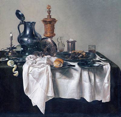 Painting - Banquet Piece With Mince Pie by Willem Claesz Heda