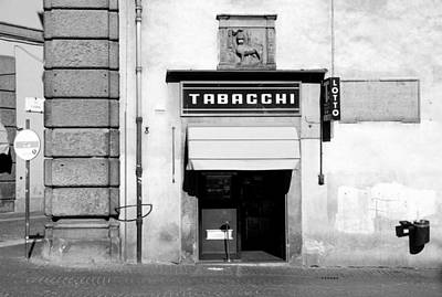 Photograph - Bar Tabacchi by Valentino Visentini