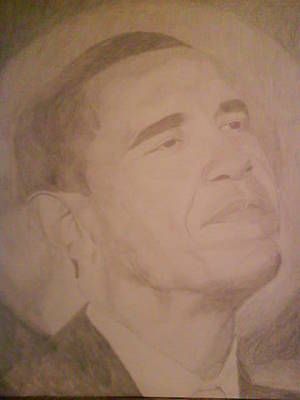 Drawing - Barack Obama  by Milton  Gore