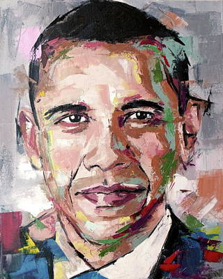 Michelle Obama Painting - Barack Obama by Richard Day