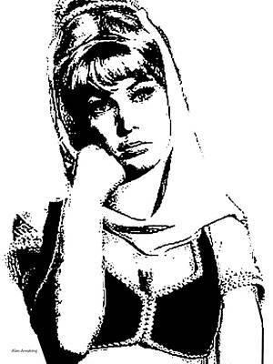 #1 Barbara Eden Portrait Art Print