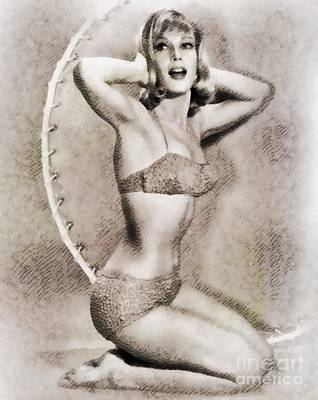 Musicians Royalty Free Images - Barbara Eden, Vintage Hollywood Actress Royalty-Free Image by John Springfield