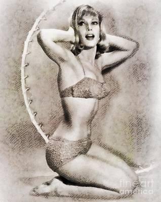Barbara Eden, Vintage Hollywood Actress Art Print