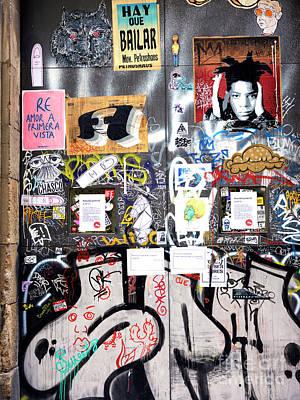 Photograph - Barcelona Street Art by John Rizzuto