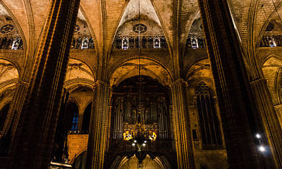 Photograph - Barcelona - The Cathedral 2 by Andrea Mazzocchetti