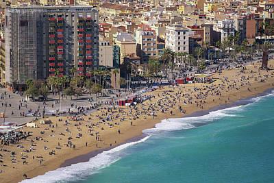 Photograph - Barceloneta Beach by Anek Suwannaphoom