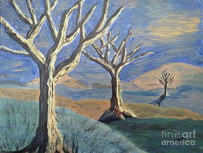Painting - Bare Trees by Judy Via-Wolff