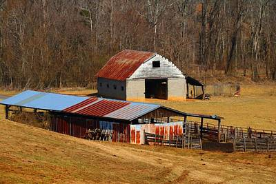 Photograph - Barn And Shed by Kathryn Meyer