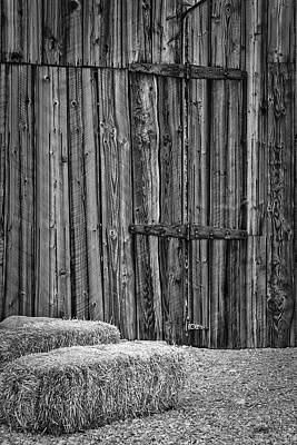 Photograph - Barn Doors And Hay by Susan Candelario