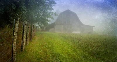 Photograph - Barn In The Hay Field by Joye Ardyn Durham
