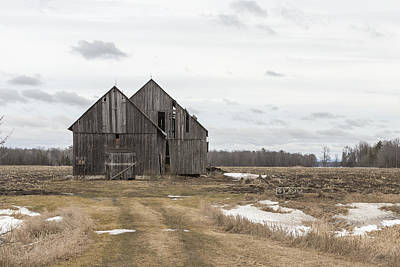 Photograph - Barn by Josef Pittner