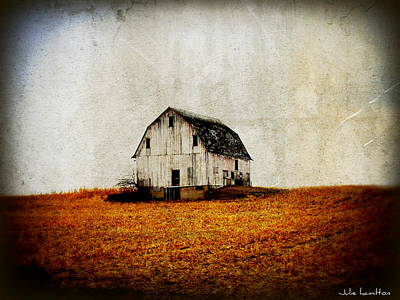 Barn On The Hill Art Print by Julie Hamilton