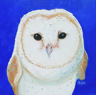 Painting - Barn Owl Painting by Jan Matson
