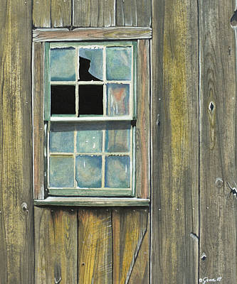 Painting - Barn Window by Jean Sumption