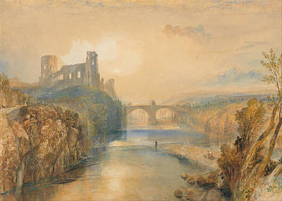 Wreckage Painting - Barnard Castle by JMW Turner