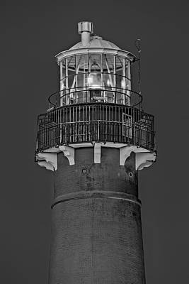 Scenery Photograph - Barnegat Lighthouse Bw by Susan Candelario