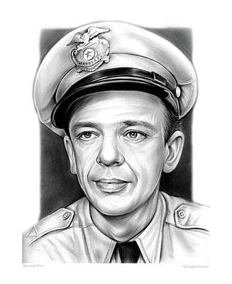 Don Knotts Drawing - Barney Fife by Greg Joens