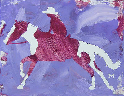 Painting - Barrel Racer by Candace Shrope
